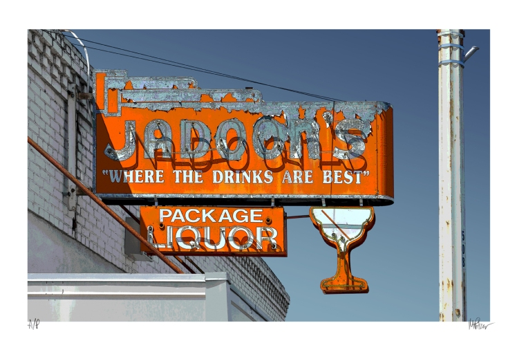 Jadoon's old neon sign photographed by Michael Pitzer.