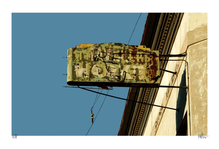Real Market old neon sign photographed by Michael Pitzer.
